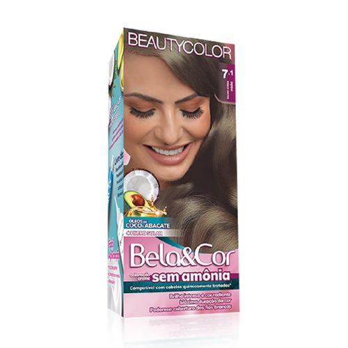 Kit-Coloracao-Creme-Bela-Cor---7.1-Louro-Cinza-Fikbella