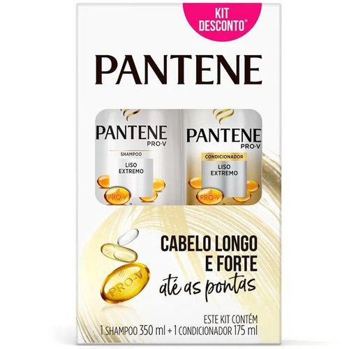 Kit-Pantene-Shampoo-350ml---Condicionador-Liso-Extremo-175ml-Fikbella