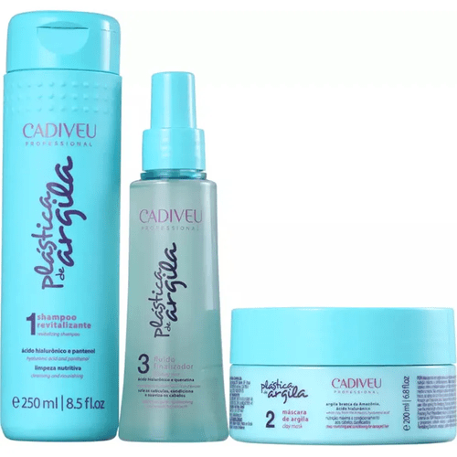 Kit-Shampoo-250ml---Mascara-200ml---Fluido-115ml-Plastica-de-Argila-Cadiveu-fikbella-145369