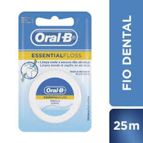 Fio-Dental-Essencial-Oral-B---25m-Fikbella