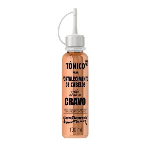Tonico-Capilar-Para-Fortalecimento-Com-Extrato-de-Cravo-Gota-Dourada---100ml-fikbella-146089