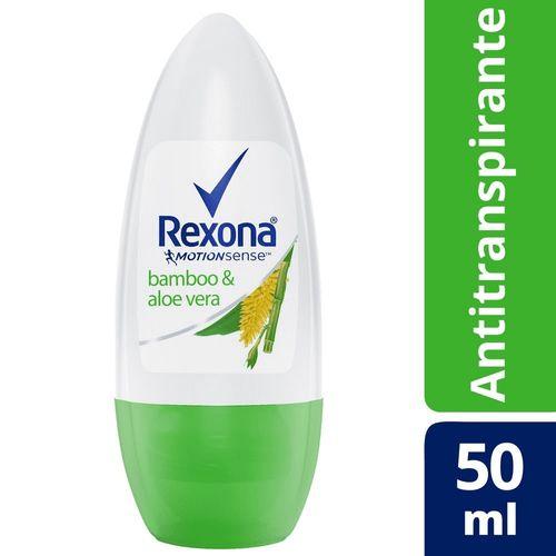 Desodorante Antitranspirante Rexona Fem Roll On Bamboo & Aloe Vera 50ml