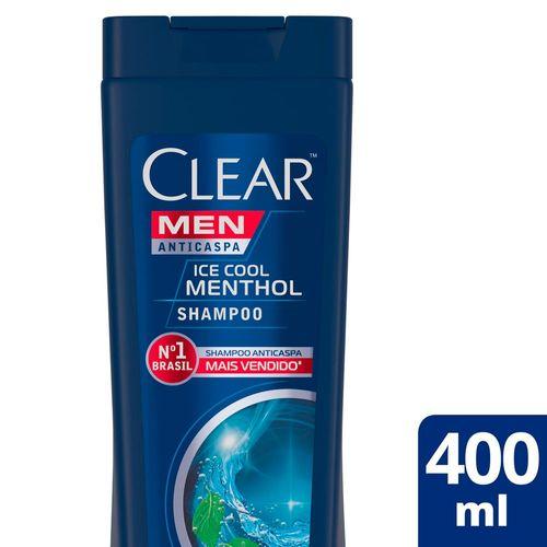 Shampoo Anticaspa Clear Men Ice Cool Mentol - 400ml