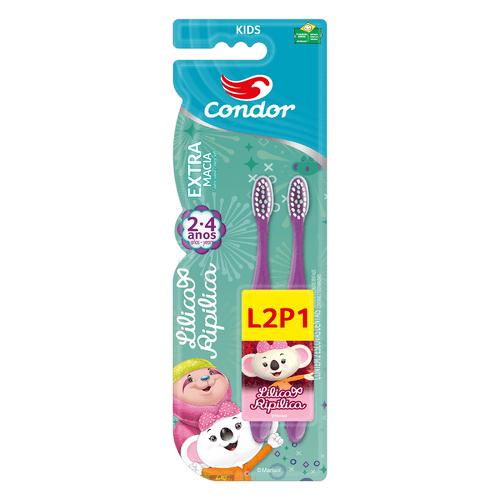 Kit-Escova-Dental-Lilica-Ripilica-Roxo-Condor---Leve-2-Pague-1-Fikbella-145967