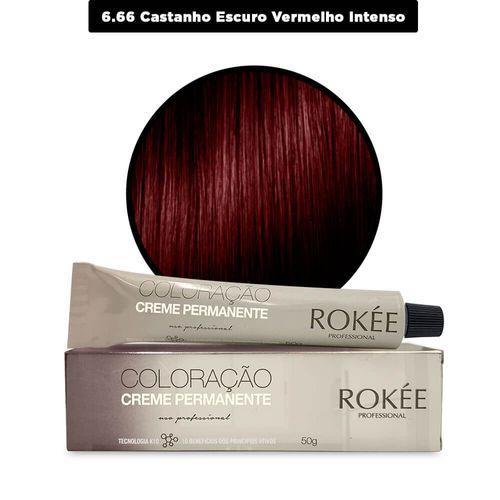 Coloracao-Creme-Permanente-ROKEE-Professional-50g-Louro-Escuro-Vermelho-Intenso-6-66-Fikbekka-142543