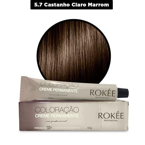 Coloracao-Creme-Permanente-ROKEE-Professional-50g-Castanho-Claro-Marrom-5-7-Fikbella-142505
