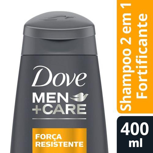 Shampoo Dove 2 em 1 Men Care Força Resistente - 400ml
