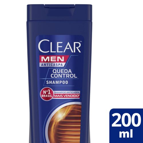 Shampoo Clear Men Anticaspa Queda Control -200ml