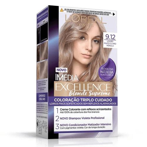 Kit-Tintura-Imedia-Excellence-L-Oreal-Blonde---Louro-Muito-Claro-Perola-9.12-fikbella
