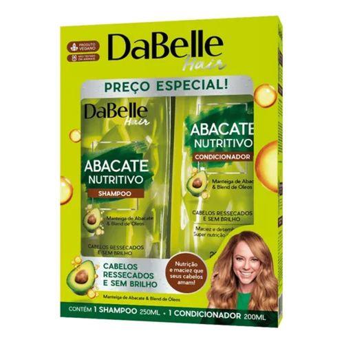 Kit-Shampoo-250ml---Condicionador-200ml-Abacate-Nutritivo-Dabelle-fikbella--1-
