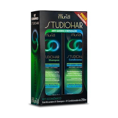 Kit-Shampoo---Condicionador-Antiquebra-e-Reparacao-Studio-Hair---250ml-fikbella