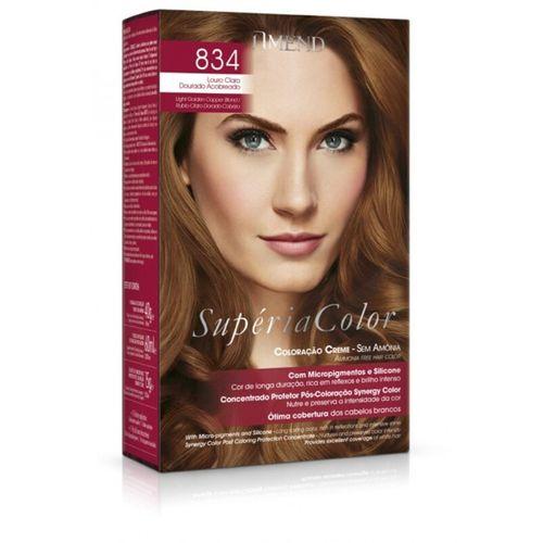 Kit-Coloracao-Superia-Color-Amend---834-Louro-Claro-Dourado-Acobreado-fikbella