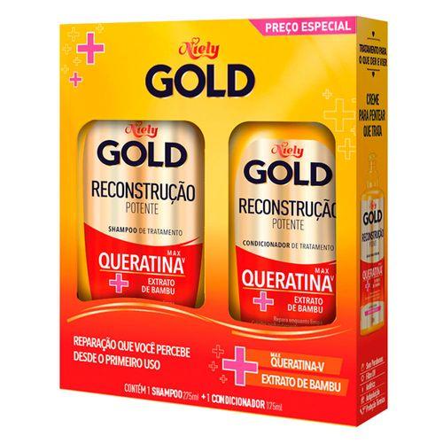 Kit-Shampoo-275ml---Condicionador-175ml-Reconstrucao-Potente-Niely-Gold-fikbella