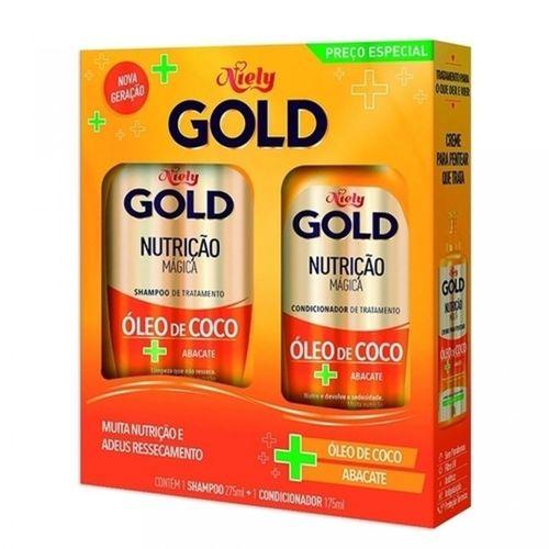 Kit-Shampoo-275ml---Condicionador-175ml-Nutricao-Magica-Niely-Gold-fikbella