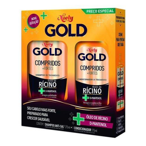 Kit-Shampoo-275ml---Condicionador-175ml-Compridos---Fortes-Niely-Gold-fikbella