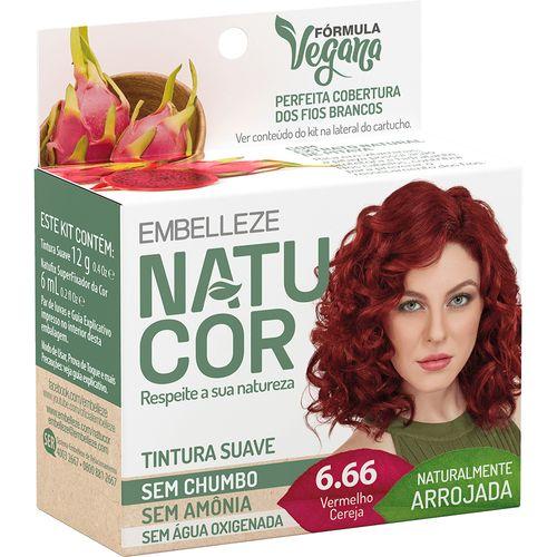 Kit-Tintura-Natucor---6.66-Vermelho-Cereja-fikbella