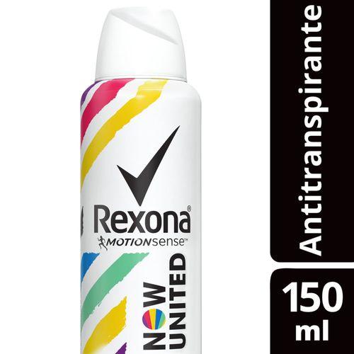 Desodorante Aerosol Antitranspirante Rexona Now United 90g