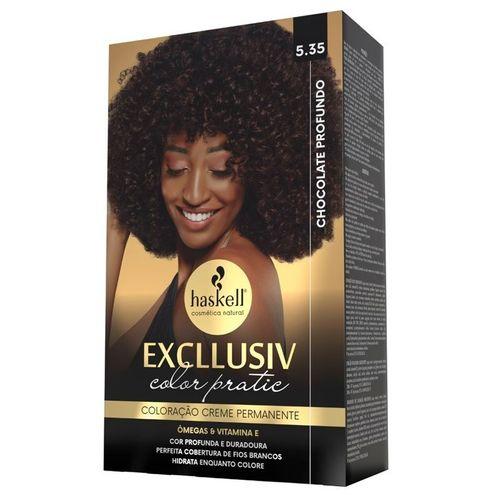 Kit-Coloracao-Excllusiv-Color-Pratic-Haskell---5.35-Chocolate-Profundo-fikbella
