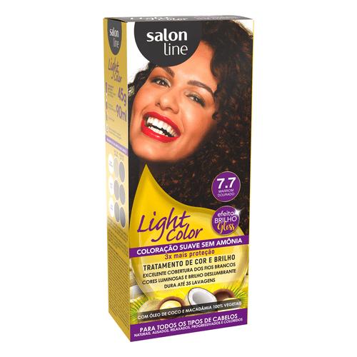 Kit-Tintura-Light-Color-Salon-Line-7.7-Marrom-Dourado-fikbella-1-