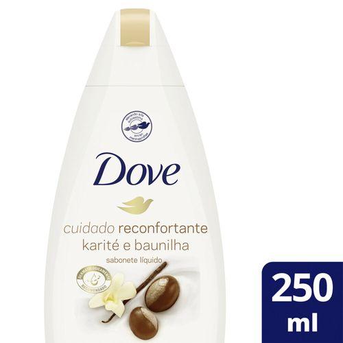 Sabonete Líquido Dove Delicious Care Karité e Baunilha 250 ml