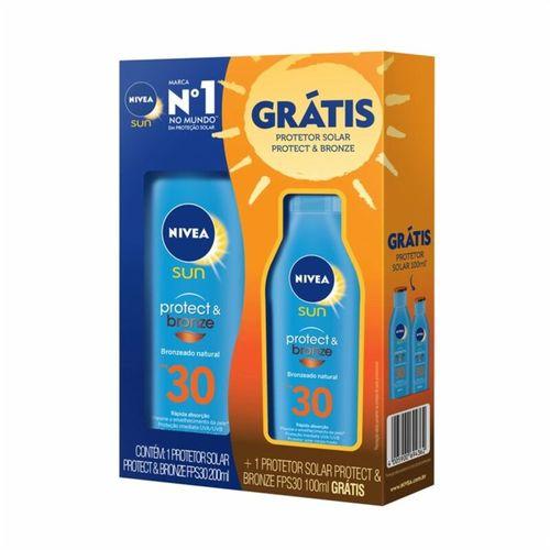 Kit-Protetor-Solar-Protect-Bronze-FPS-30-200ml---100ml-Nivea-fikbella